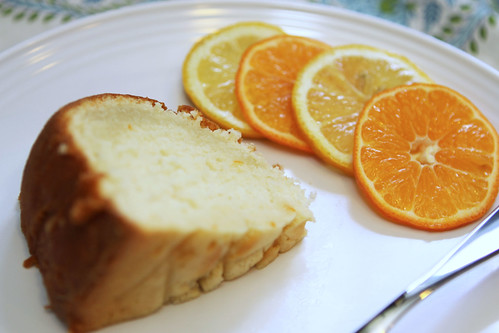 Citrus pound cake slice