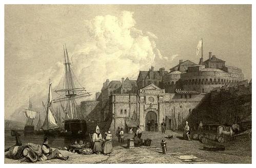 004- San Malo-Bretaña en Francia-Stanfield's coast scenery…1836- Clarkson Stanfield
