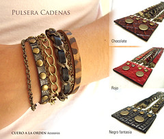 Pulsera cadenas (Cuero a la Orden) Tags: leather design chains cadenas bracelet jewellry cuero
