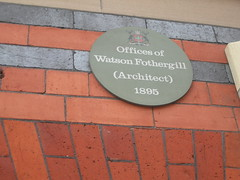 Photo of Watson Fothergill green plaque