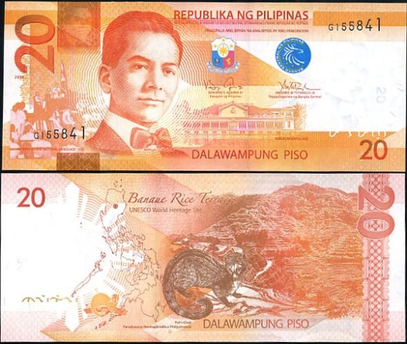 20 Piso Filipíny 2010 (2011)