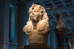 Amenhotep III (upper part) (Thirsty Dragon) Tags: uk england sculpture museum europe egypt britishmuseum picks