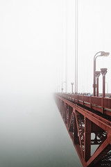 Abyss (Design.Her) Tags: sanfrancisco red vacation fog america vanishingpoint nikon industrial steel foggy wideangle landmark tokina pacificocean goldengatebridge thebay abyss d90 1116mm designher