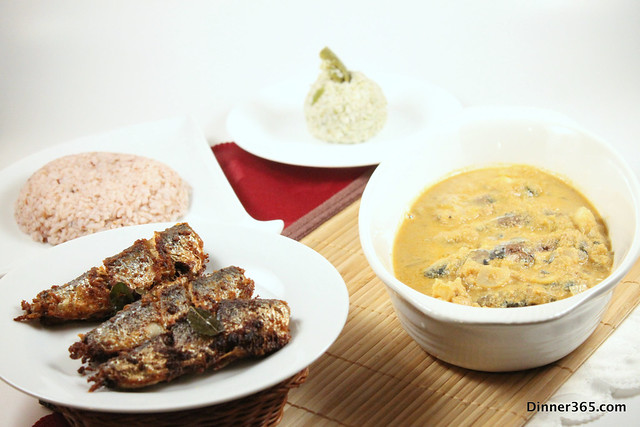 Day 201 - Goan Fish Curry, Mango Chammanthi, Fish Fry and Red Rice