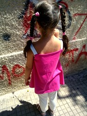 Kate's graffiti (dimitra_milaiou) Tags: life street city pink summer people sun white colors girl wall painting greek one graffiti 1 town nokia europe paint day child dream hellas athens greece imagination athina katerina dimitra hellenic x6      milaiou