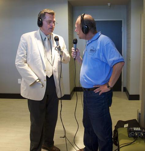 John Broussard, USDA Business and Cooperative Programs Director for Louisiana, discusses USDA's business programs  and the hotel project in an interview with radio announcer E. John Ponthier, Avoyelles Country KAPB 97.7 FM radio.