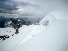 Chikamin glacier - full of crevasses