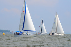 "Sherpa (Michael Shaner) Passing Luna Loca (Ken Juul) in the 2011 Southern Chesapeake Bay • <a style=""font-size:0.8em;"" href=""http://www.flickr.com/photos/7120563@N05/5963923336/"" target=""_blank"">View on Flickr</a>"