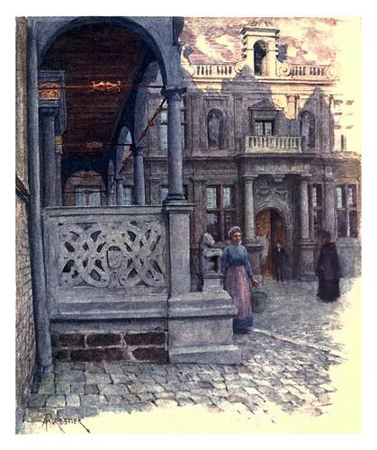 015-Furnes peristilo del ayuntamiento y palacio de justicia-Belgium 1908- Amédée Forestier