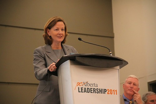 Alberta Progressive Conservative leadership candidate Alison Redford in Vermilion on July 21, 2011.