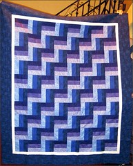Rhapsody in Blue and Purple quilt