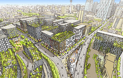 East Village Aerial Rendering