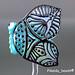 Single bead : Blue Butterfly