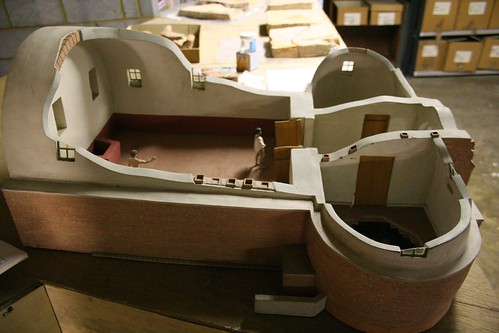 A model of the presumed bathhouse