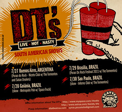 Flyer web para gira de The DT's