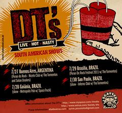Flyer web para gira de The DT's