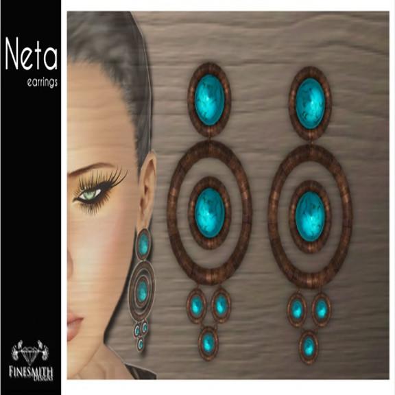 Netta Earrings Turquoise