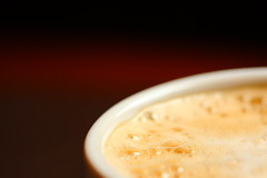 foam (Dan Idoine) Tags: blur macro cup coffee closeup canon close bokeh bubbles 100mm starbucks mug espresso usm brew capucino froth