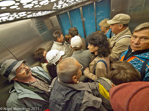 In the lift - Jungfraujoch