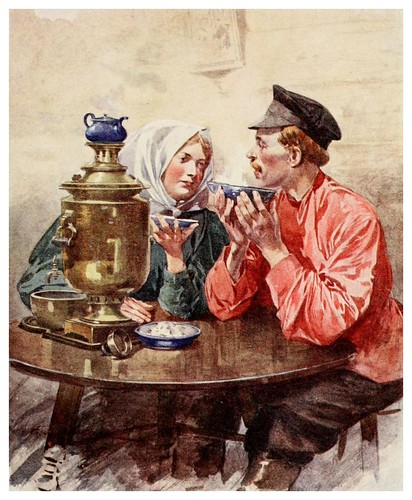 004-Un cuenco de te de un samovar-Russia-1913- F. de Haenen
