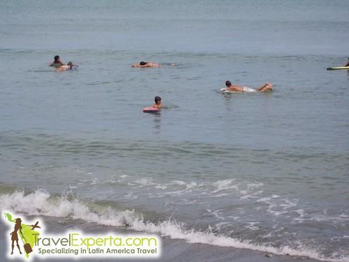 Kids Boogy Boarding Osa Peninsula Costa Rica Beach Matapalo
