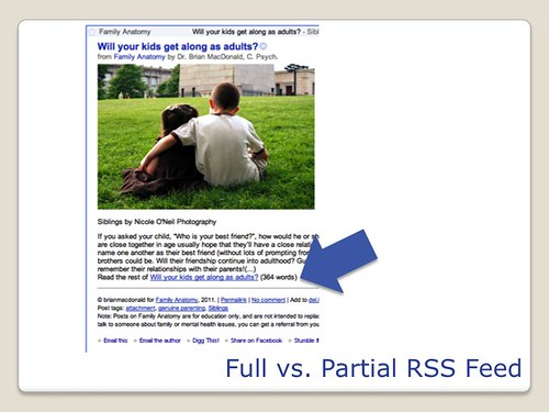 Blogging Tools - Full vs Partial Feed
