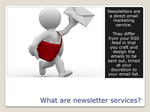 Blogging Tools - Email Newsletter Serives