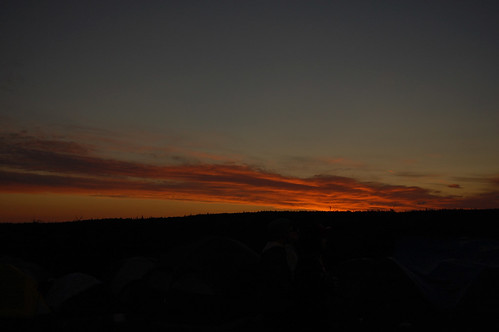 Sunrise over Tent CIty - Evolve Festival 2011