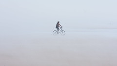 Beach Biker (Simonds) Tags: ocean summer mist beach bike fog washington pacific biker copalis