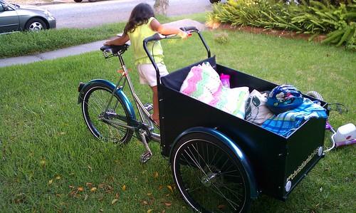 Christiania cargo trike as playground