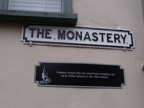 The Monastery, Norwich - road sign