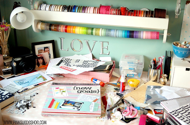 my messy desk