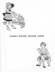 Famous Rhymes Mother Goose frontispiece (katinthecupboard) Tags: mothergoose vintagechildrensbooks jackhorner mistressmary vintagechildrensillustrations vintagechildrensrhymes