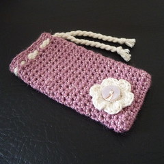 Pink mobile ipod cosy crocheted (bycreativehands) Tags: kids shopping handmade unique crochet gifts gift buy crocheted sell adults