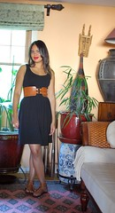 black and brown and red (a stylized hysteria) Tags: outfit dress redlipstick blackandbrown ootd