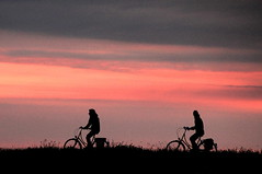 sunset cyclers (**MIKA**) Tags: sunset bicycle sonnenuntergang insel fahrrad hiddensee