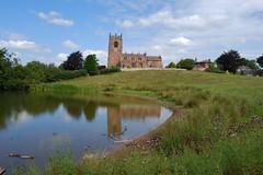 Marbury, Cheshire 260711 DSC_0253 (Leslie Platt) Tags: church village cheshire retouched straightened marbury bigmere cheshireeast
