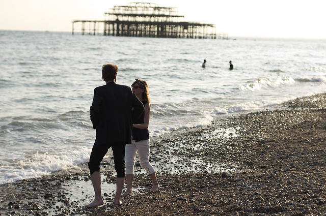 couple and west pier