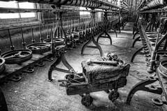 The Workman's Cart (Chuck Robinson) Tags: blackandwhite bw nikon maryland lonaconing westernmaryland d300 2011 photomatix silkmill silverefexpro2 lonaconingsilkmill