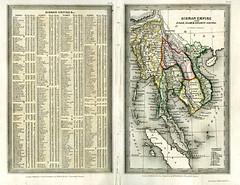 Bản đồ Đế quốc Miến Điện - với các xứ An Nam, Xiêm La và Nam Kỳ vẽ bởi Thomas Starling