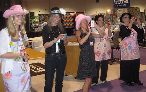 the paparazzi at the Long Beach Quilt Festival