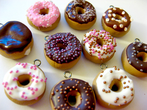 Mini donut charms