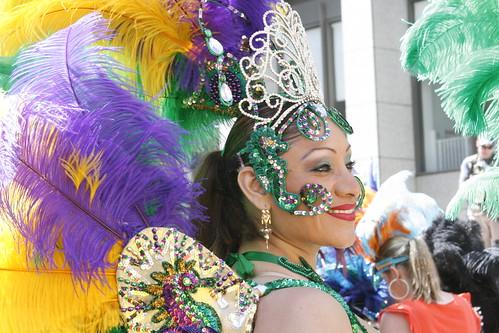 Woman in Feather Headdress