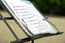 Photo of music on music stand