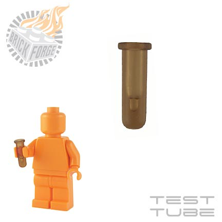 Custom minifig Test Tube - Trans Brown