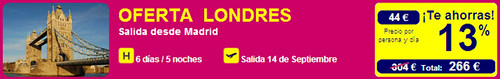 Oferta Madrid - Londres