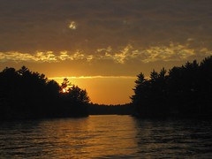IMG_0851 (JamieK2007) Tags: sunset sky orange sun lake ontario canada water yellow pine evening dusk muskoka gohomelake