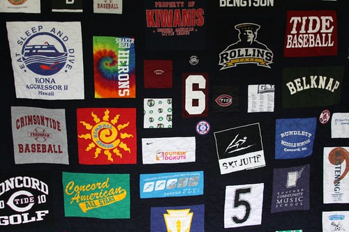 Custom T shirt and Sports Jerseys Memory Quilt