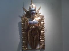 "Sas + Colin Christian - ""Vimana"" 1 (Punkrose33) Tags: nyc newyorkcity colin gold 22 opera gallery bust fiberglass sas silicone 2011 operagallery vimana karatgold sascolinchristian"