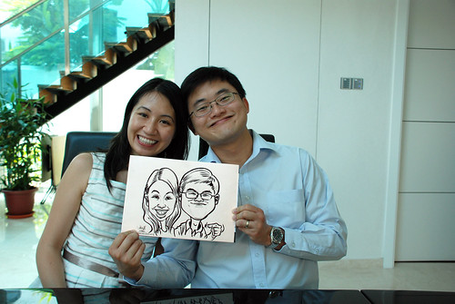 caricature live sketching for wedding solemnisation - 5